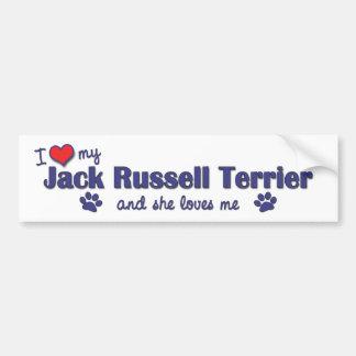 I Liebe mein Jack-Russell-Terrier (weiblicher Hund Autoaufkleber