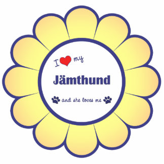 I Liebe mein Jamthund (weiblicher Hund) Fotoskulptur Ornament
