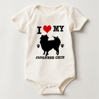 I Liebe mein japanischer Chin Baby Strampler