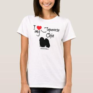 I Liebe mein japanischer Chin-Hund T-Shirt