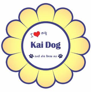 I Liebe mein Kai Hund (weiblicher Hund) Photoausschnitt