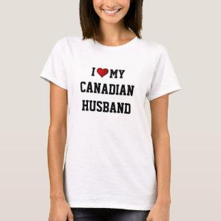 I Liebe mein kanadischer Ehemann T-Shirt