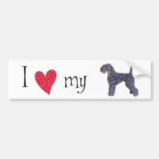 I Liebe mein Kerry-Blau-Terrier Autoaufkleber