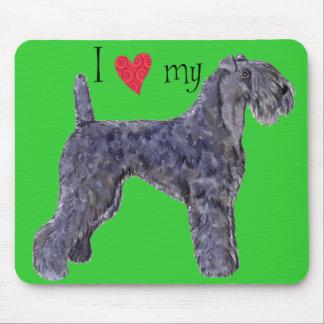 I Liebe mein Kerry-Blau-Terrier Mousepad