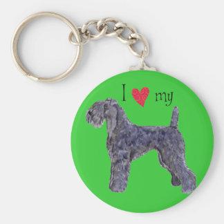 I Liebe mein Kerry-Blau-Terrier Schlüsselanhänger