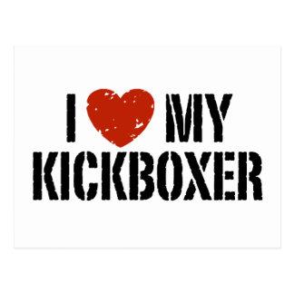I Liebe mein Kickboxer Postkarte