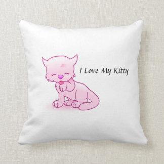I Liebe mein Kittythrow-Kissen Kissen