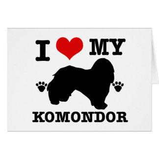 I Liebe mein Komondor Karte