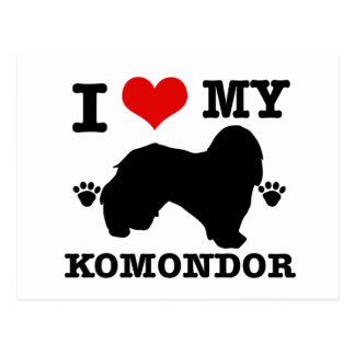 I Liebe mein Komondor Postkarte