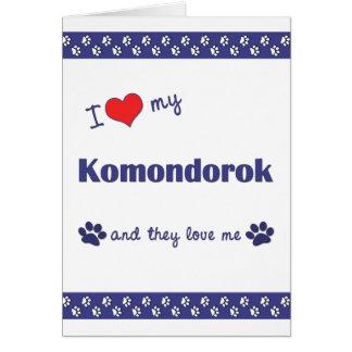 I Liebe mein Komondorok (mehrfache Hunde) Karte