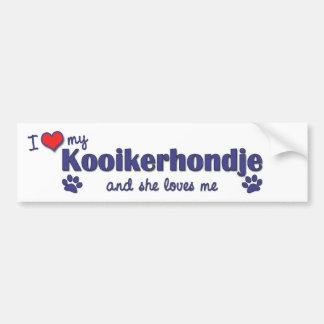 I Liebe mein Kooikerhondje (weiblicher Hund) Autoaufkleber