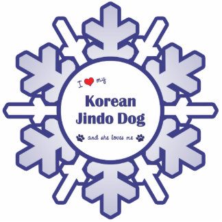 I Liebe mein koreanischer Jindo Hund (weiblicher H Acryl Ausschnitt
