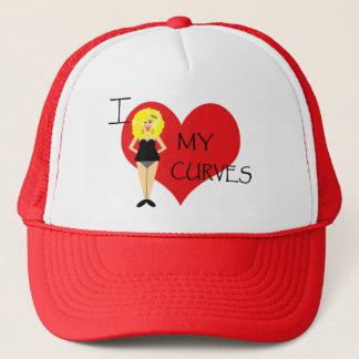 I Liebe mein Kurven-motivierend Hut Truckerkappe