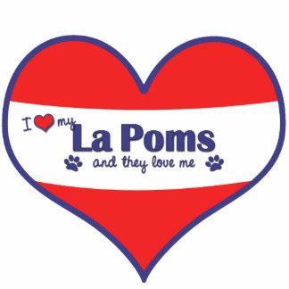 I Liebe mein La Poms (mehrfache Hunde) Photo Figur