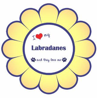 I Liebe mein Labradanes (mehrfache Hunde) Photo Figur