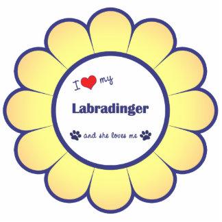 I Liebe mein Labradinger (weiblicher Hund) Acrylausschnitt