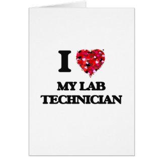 I Liebe mein Labrador-Techniker Grußkarte