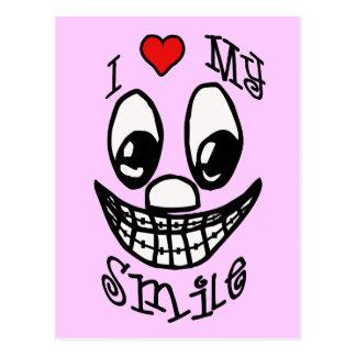 I Liebe mein Lächeln Postkarte