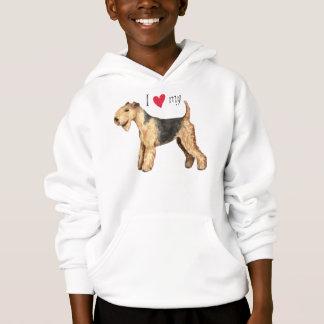 I Liebe mein Lakeland-Terrier Hoodie