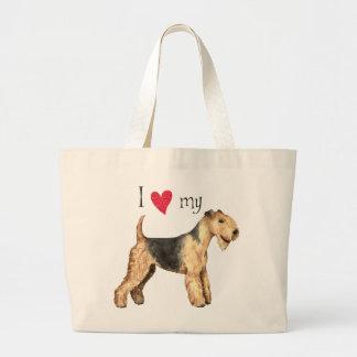 I Liebe mein Lakeland-Terrier Jumbo Stoffbeutel