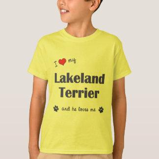 I Liebe mein Lakeland-Terrier (männlicher Hund) T-Shirt