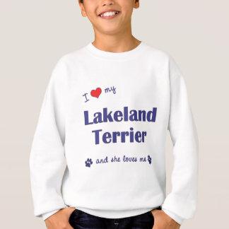 I Liebe mein Lakeland-Terrier (weiblicher Hund) Sweatshirt