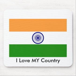 I Liebe MEIN Land Indien Mousepad