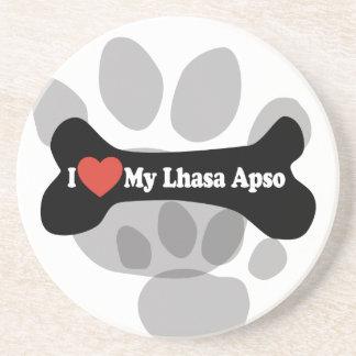 I Liebe mein Lhasa Apso - Hundeknochen Untersetzer