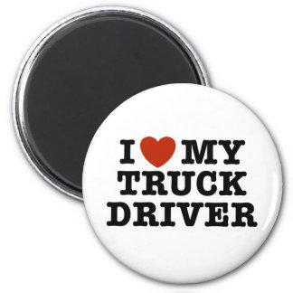 I Liebe mein LKW-Fahrer Runder Magnet 5,7 Cm