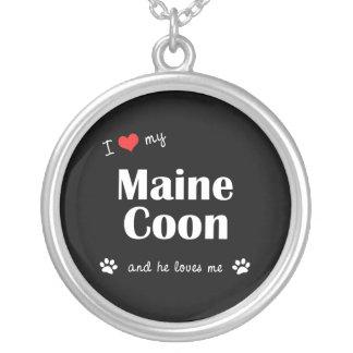 I Liebe mein Maine-Waschbär (männliche Katze) Versilberte Kette