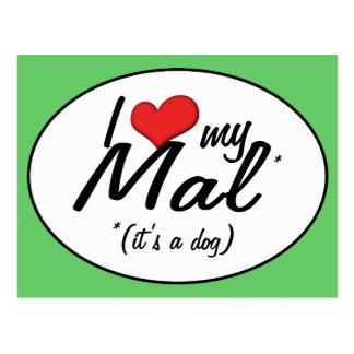 I Liebe mein Mal (es ist ein Hund) Postkarte