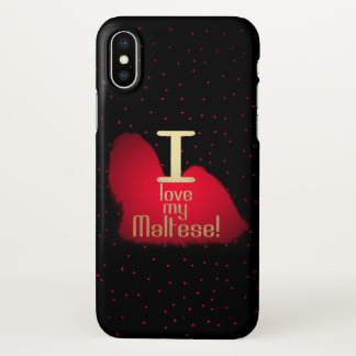 I Liebe mein maltesisches! iphone X Fall iPhone X Hülle