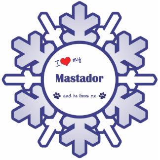 I Liebe mein Mastador (männlicher Hund) Fotofiguren