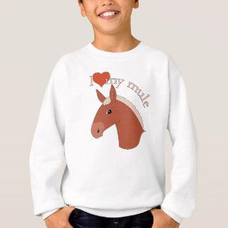 I Liebe mein Maultier rotes Flaxen Sweatshirt