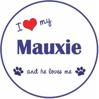 I Liebe mein Mauxie (männlicher Hund) Fotoskulptur Ornament