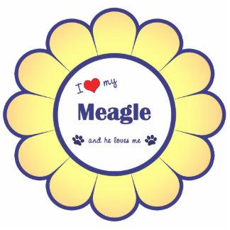 I Liebe mein Meagle (männlicher Hund) Acryl Ausschnitt