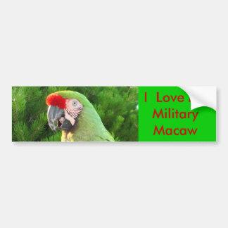 I Liebe mein MilitärMacaw Autoaufkleber
