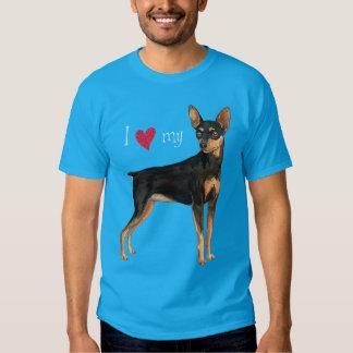 I Liebe mein MiniaturPinscher Hemden