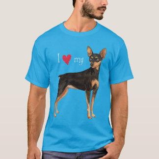 I Liebe mein MiniaturPinscher T-Shirt