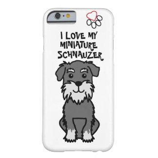 I Liebe mein Miniaturschnauzer-Telefon-Kasten Barely There iPhone 6 Hülle