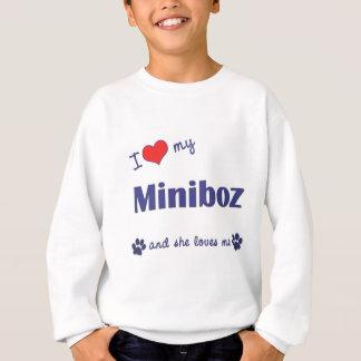 I Liebe mein Miniboz (weiblicher Hund) Sweatshirt