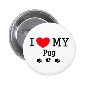 I Liebe mein Mops! Button