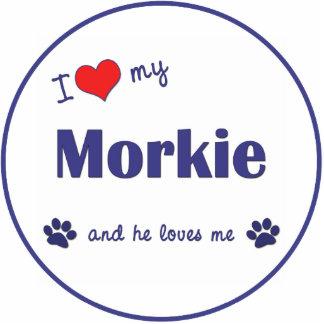 I Liebe mein Morkie (männlicher Hund) Photo Statue
