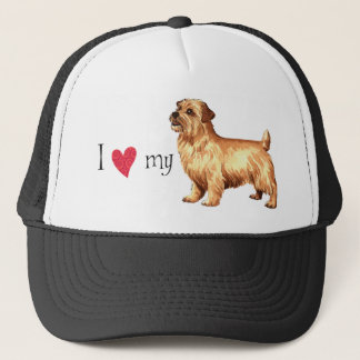 I Liebe mein Norfolk-Terrier Truckerkappe