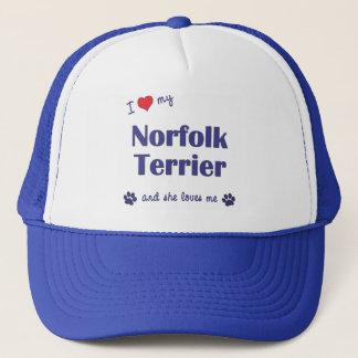 I Liebe mein Norfolk-Terrier (weiblicher Hund) Truckerkappe