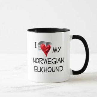 I Liebe mein norwegisches Elkhound Tasse