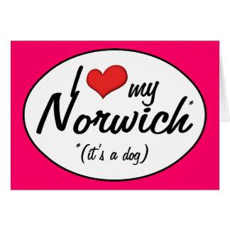 I Liebe mein Norwich (es ist ein Hund) Karte