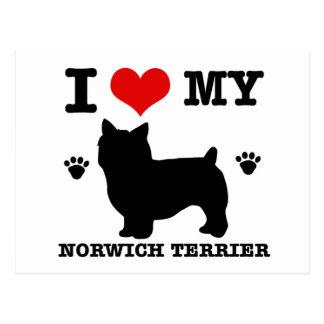 I Liebe mein Norwich-Terrier Postkarte