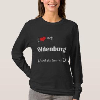 I Liebe mein Oldenburg (weibliches Pferd) T-Shirt