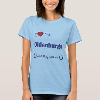 I Liebe mein Oldenburgs (mehrfache Pferde) T-Shirt